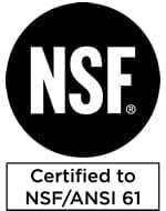 Certified to NSF/ANSI 61