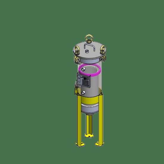 SL111-2P-CD-150 single bag carbon housing